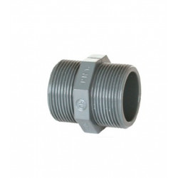 MACHON DOBLE PVC SERIE ROSCAR 3/8