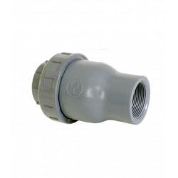VALVULA ANTIRRETORNO PVC ROSCAR UP-S67 FT1 1/2