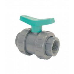VALVULA BOLA PVC ROSCAR H UP60 FT5 1/2