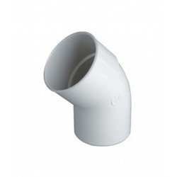 CODO 45X50 HH PVC BLANCO