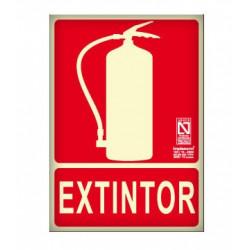 CARTEL SEÑAL EXTINTOR CO2L RIESGO ELECTRICO EX19