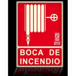 CARTEL FOTOLUMINESCENTE BOCA DE INCENDIOS 210X297