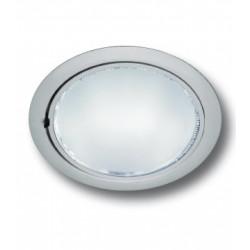 FOSNOVA DOWNLIGHT LEX 2X26W BE PLATA C/ LAMP + CRISTAL MATE