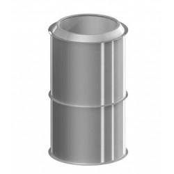 MODULO REGULABLE 250-450MM Ø125 MDPLUS INOX-INOX AISI 316