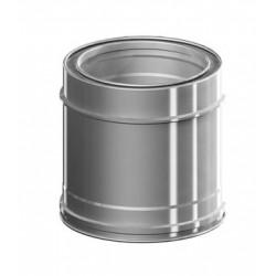 TRAMO CHIMENEA 0,25MT Ø80 GC-25 PLUS INOX-INOX