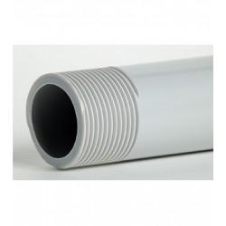 AISCAN ML TUBO PVC G-9 M-20 GRIS ROSCADO RIGIDO GRADO 9