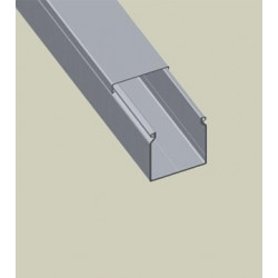 UNX ML CANAL LISA 25X20 P/ CUADRO PVC-M1 GRIS 252007