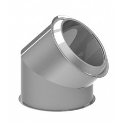 CODO 45° Ø80 INOX SIMPLE ISW