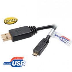 CABLE USB A A USB MICRO B CERTIF 1.8M N