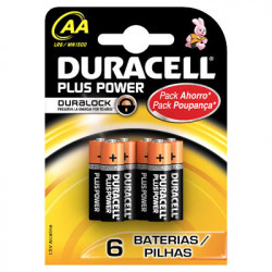 PILAS DURACELL PLUS POWER AA(LR06)4+2KP ALCALINAS
