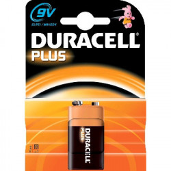 PILAS DURACELL PLUS POWER 9V(6F22) ALCALINA