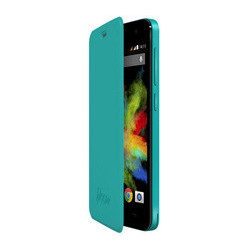 FUNDA CON TAPA WIKO BLOOM TURQUESA