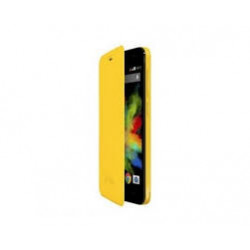 FUNDA CON TAPA WIKO BLOOM AMARILLO