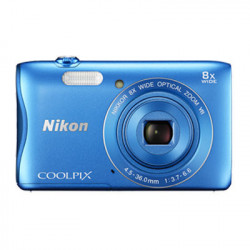 CAMARA FOTOS NIKON COOLPIX S3700 20MP AZUL+KIT