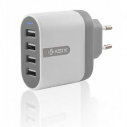 ADAPTADOR DIRECTO KSIX 4 PUERTOS USB 4800 MAH