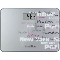 BASCULA BAÑO TERRAILLON POCKET CITY SILVER+FUNDA